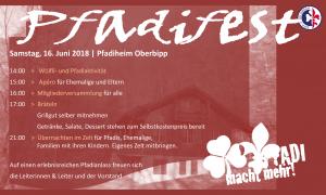 Pfadifest und Mitgliederversammlung