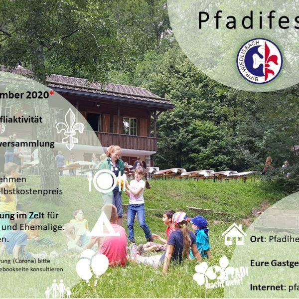 Pfadifest (Mitgliederversammlung) 2020 im Pfadiheim Oberbipp am 19. September 2020